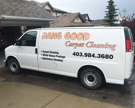 Carpet Cleaning - Dang Good Cleaning Truck
