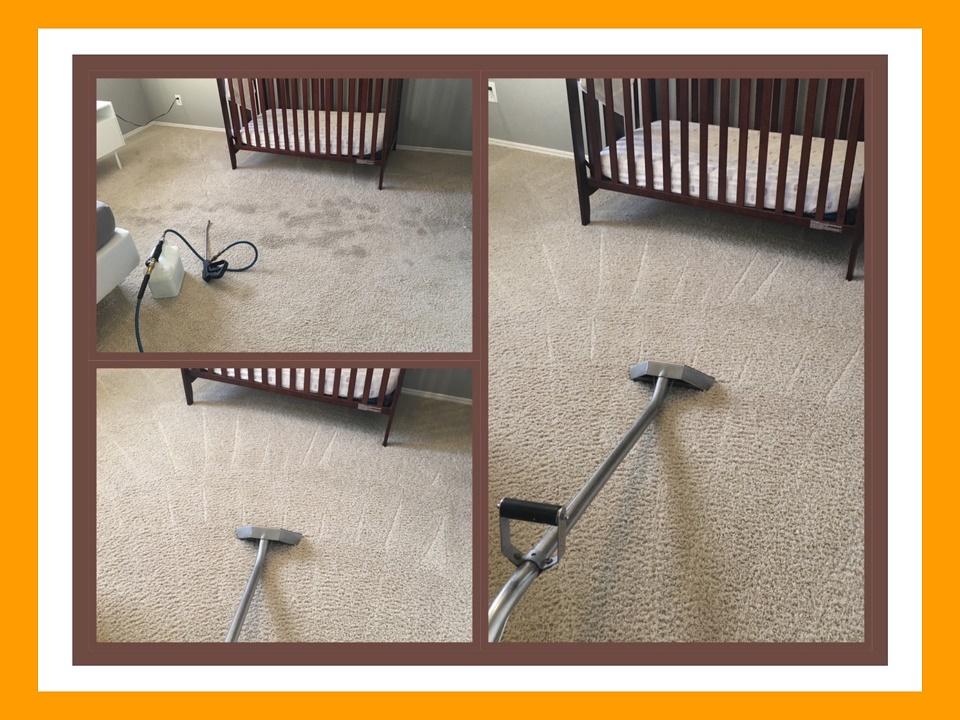 Soiled carpet in Nursery