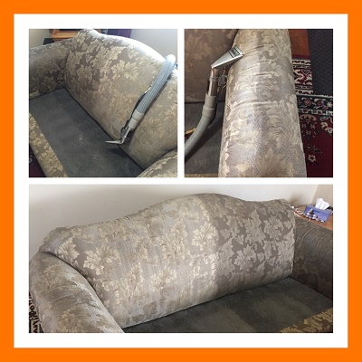 Upholstery Cleaning - Sofa Steam Cleaned